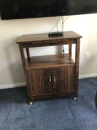 Cabinet with cupboard space and roll base- great for TV stand, kitchen