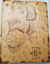 LOR - Middle Earth Map - Woodburning Edmonton, T5Y 1G9