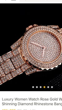 Woman's rose gold watch 270 mi