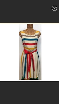 women's white, yellow, blue, and red stripes sleeveless dress Los Angeles, 91436