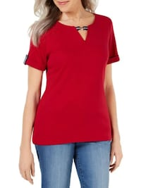 nwt Cotton Top red M