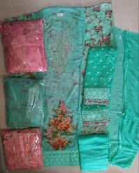 green, pink, and yellow floral textiles Mumbai, 400047
