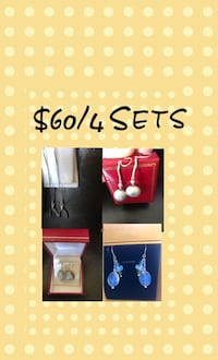 925 silver earring Sets .$20 each or $60 for 4 sets Burnaby, V5H 1Z9
