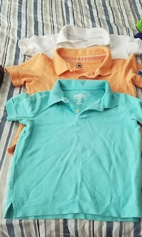 Boys shirts 4t and 5t 4 polo and 6 t shirts  Raleigh, 27616