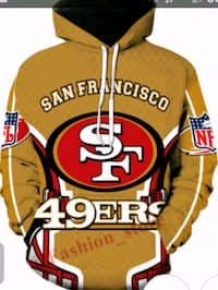49 ers Hoodie Size Small