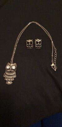 Owl Necklace and Earrings Set Vaughan, L4L