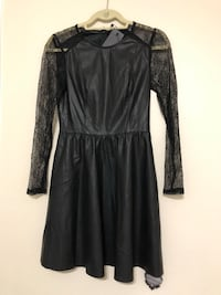 NEW leather dress with lace sleeves Calgary, T3H 4W7