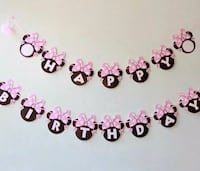 Minnie Mouse Party Bunting 1 Banner Length 2.5m