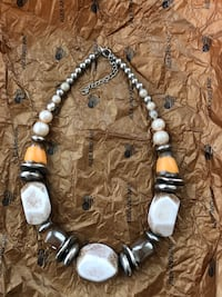 Necklace w/Silver Hammered Beads NEW Gainesville, 20155