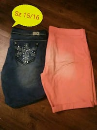 two blue and orange denim jeans Northport, 35473