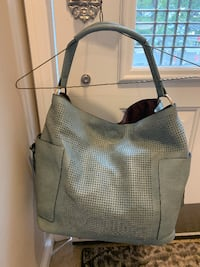 Purse - Grey leather Hobo Bag great condition