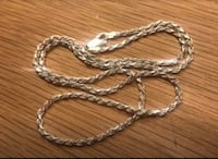 Brand new sterling silver rope chain  Calgary, T3K 0J1