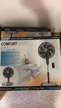 Brand new in box table fan 2 in one with remote control Edmonton, T6L 6X6