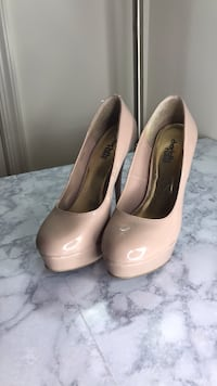 pair of beige leather platform stilettos Rockville, 20850