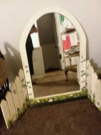 Cream-colored bifold mirror for a desk or a wall Warrensville Heights