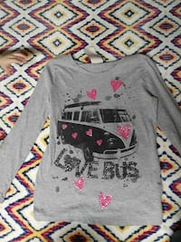 black bus printed grey long-sleeved shirt Las Vegas, 89106