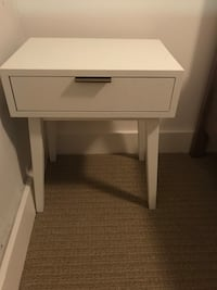 White and gold nightstand
