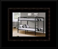 Twin bunkbed frame with 2 mattress Washington, 20018