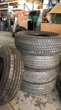 Michelin tires x 5 tires 225-75-16 tires