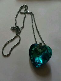 Gorgeous aquamarine crystal heart necklace . Whitby, L1N 8X2