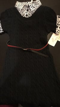 Black dress with collar and arm cuffs attached Gaithersburg, 20879