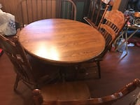 Kitchen table, 3 chairs and bench Lafayette, 70508