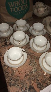 16 piece tea cup set