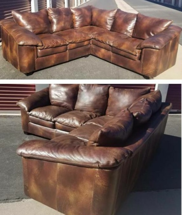 Used Creative Leather Sectional for sale in Chandler - letgo