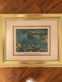 Waterlilies picture frame Cleveland