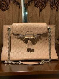 GUCCI Guccissima Large Emily Chain Shoulder Bag Rose Beige Milpitas, 95035