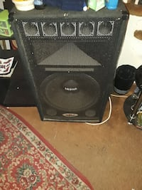 black and gray PA speaker 50 km