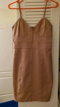 Forever 21 bodycon medium nude dress Fairfax