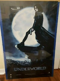 Underworld movie poster in mint condition in poster frame