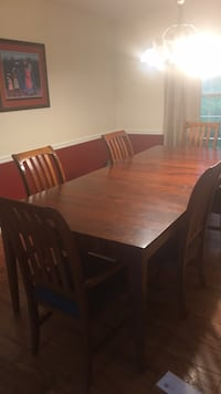 ethan allen  silud cherry   dining table and       6 chairs Montgomery Village, 20886