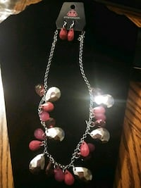 silver and pink beaded necklace Palmdale, 93550