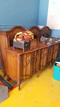 brown wooden cabinet with drawers Lutherville-Timonium, 21093