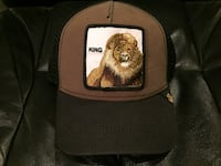 Lion-printed brown and black mesh cap ROCKVILLE