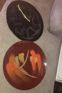 Two decorative hanging plates. Great home decor