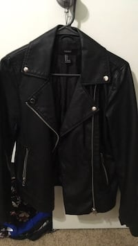 leather black Small  jacket new pick up only Whittier, 90602
