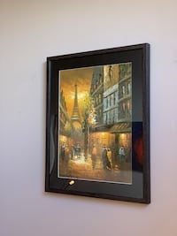 Original oil painting Paris street by Canadian artist Calgary, T3A 4R8