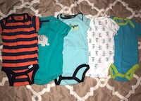 5 Baby boy onesies | rarely used | Good condition | Size: 3 to 6 months Silver Spring, 20906