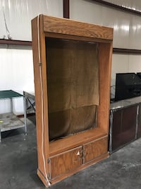 Brown lighted cabinet with doors Sevierville, 37862