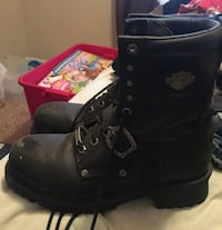 Harley Davidson steel toe black leather boots Woodbridge, 22193
