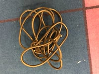 15 foot heavy duty extension cord black (looks brown in photo)