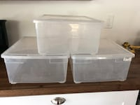 3 plastic boxes with lid 15x13x6 1/2 $6 Fort Lauderdale, 33311