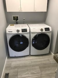 white front-load washer and dryer set 43 km