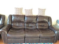 Synthetic leather couch and love set...