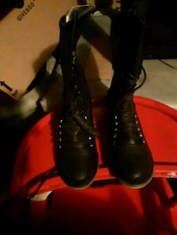 Brand new black lace-up boots size 8 . Whitby, L1N 9E2