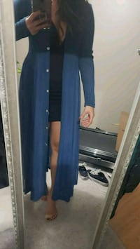 Long dressy cover cardigan - teal Toronto, M3C 3R6