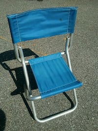 Lightweight folding aluminum fishing beach chair